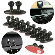 8/set Car Wire Cord Clip Cable Holder Tie Organizer Adhesive Clamp Magic Useful