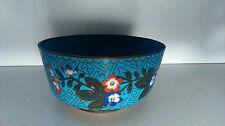 """Blue bowl. Bol bleue """"cloisonné"""" Chine"""