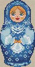 Russian Doll Cross Stitch Chart (Doll Blue)