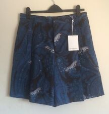 GIVENCHY Blue paisley print cotton shorts  IT 46 W30 RRP £345