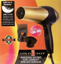 GOLD 'N HOT PROFESSIONAL 1875W LIGHT WEIGHT IONIC DRYER WITH TOURMALINE GH2259