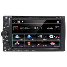 Universal 2 DIN 6.2'' HD Car Stereo DVD Player HeadUnit GPS Bluetooth Navigation