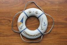 P&O LUNDS BLUE ANCHOR LINE RARE SAILOR MADE SHIPS LIFE BELT SS COMMONWEALTH