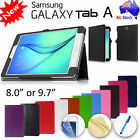 Premium Flip Leather Case for Samsung Galaxy Tab A 8.0 SM-T350 TabA 9.7 SM-T550