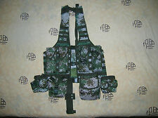 07's series China PLA Army Woodland Digital Camo Combat Tactical Vest,Set,D
