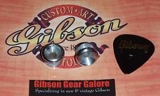 Electric Guitar Relic Chrome Strap Buttons Guitar Parts Locks Custom Gibson Pick
