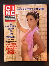 CINE REVUE 1978 N°37 liza minnelli agnes moorehead annie belle jean sorel