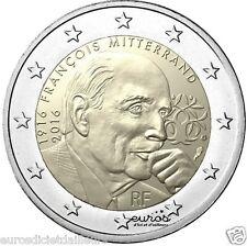 """Pièce 2 euros commémorative FRANCE 2016 - """"François Mitterrand"""" - UNC"""