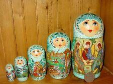 Russian Nesting Doll matryoshka SIDOROVA signed Rublev TRINITY 5 AUTUMN