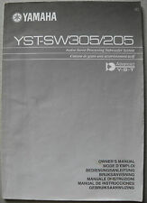 YAMAHA YST-SW305 / SW205 Bedienungsanleitung, User manual