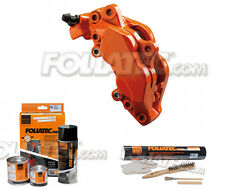 Foliatec Brake caliper paint kit flame orange + Mounting Set