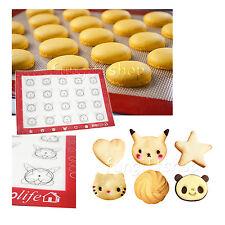 6shape guide Silicone Fibreglass Rolling Dough Tray Pad Macaron Baking Mat Sheet