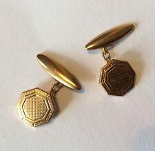 Vintage Cadena Enlace Gemelos hexagonal