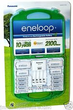 New Panasonic Eneloop 917976 Rechargeable Batteries ( made in Japan ) & Charger