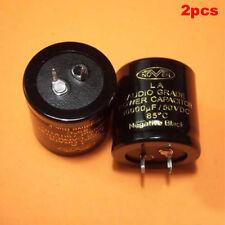2pcs 10000uF/50V Nover LA Audio Grade Power Capacitor 35x35mm 85C
