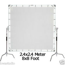 2.4x2.4m 8'x8' Butterfly overhead Diffusor Frame + Cloth+ Bag + 2pcs C-Stands