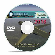 2016 PROFESSIONAL FLIGHT SIMULATOR, LEARN HOW TO FLY A PLANE TODAY, WIN 10 DVD