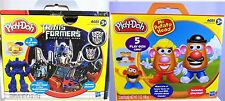 Play-Doh 2 PLAYSETS  TRANSFORMERS and  MR POTATO HEAD molds roller +++