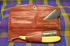 Vintage DURHAM DUPLEX RAZOR CO New York Traveling Straight Edge Raor & Blades