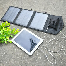 Camping Portable 10.5W 5V Solar Panel Power Bank Electric Source Charger Hiking