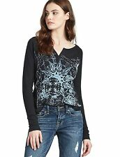 Lucky Brand - S - NWT - Black Constellation Flock Top - Long Sleeve Tee/T-Shirt