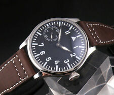 Parnis 44mm supper Blue luminous hands and Dial hand winding 6497 movement Watch