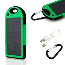 5000mAh Portable Waterproof Solar Charger Dual USB External Battery Power Bank