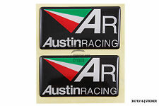 AUSTIN racing decal sticker quality domed gel for motorbike racing motor
