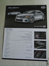 Scion xB, xD & tC brochure 2011 USA market