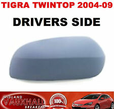 VAUXHALL TIGRA CONVERTIBLE PRIMED WING MIRROR COVER DRIVERS OFF SIDE CAP CASE