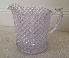 Beautiful Unique 1 Qt. Crystal Pitcher, Diamond Pattern, Must See!