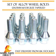 Alloy Wheel Bolts (16) 12x1.5 Nuts Tapered for Renault Super 5 GT Turbo 84-91