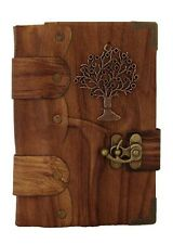Tree Pendant Brown Leather Journal , Notebook , Diary , Sketchbook Vin