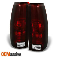 88-98 C/K C10 GMC Sierra Suburban Pickup Truck Dark Red Tail Light Brake Lamps