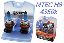 2x MTEC H8 12V 65W Headlights Halogen Fog Car Bulb 4350k SUPER WHITE H.I.D CLASS