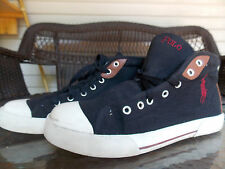 Black HighTop Sneakers By Polo Ralph Lauren Men's Size 10 1/2 FREE SHIPPING used