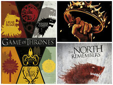Game of Thrones 3 Individual Posters Sigils Five Kings North Remembers New!