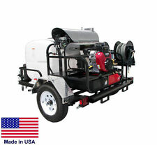 PRESSURE WASHER Hot Water - Trailer Mount - 200 Gal - 5.5 GPM - 4000 PSI - 12V G