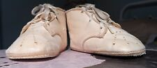 VINTAGE WHITE LACE UP CHILDS SHOES/BOOTS