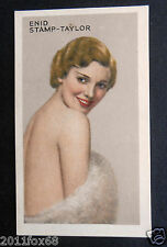 figurines figurine attori cigarette cards #13 enid stamp-taylor actrices actress