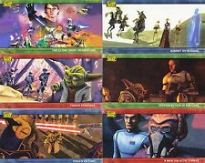 STAR WARS CLONE WARS 2009 TOPPS COMPLETE WIDEVISION BASE CARD SET OF 80