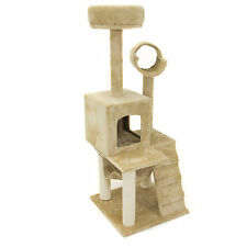 "New .Deluxe 52"" Cat Tree Tower Condo Scratcher Furniture Kitten House Hammock"