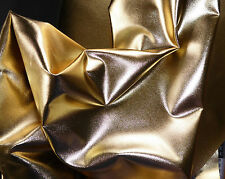"Gold Metallic Cotton Fabric 50"" Wide Crafts Upholstery Bags Cushions"