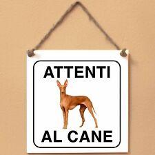 Cirneco dell'Etna 1 Attenti al cane Targa cane cartello