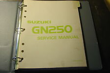 1983 SUZUKI GN250 SERVICE MANUAL IN BINDER &  SUPPLEMENT  99500-32020-03E