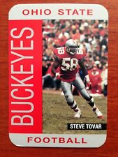 CFB 1992 OHIO STATE BUCKEYES OSU Football Schedule STEVE TOVAR College FB