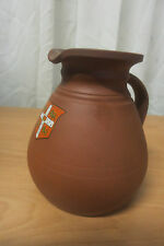 Antique Wedgwood Terracotta Cambridge Ale Jug Woollard & Co. England 1850's