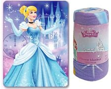 OFFICIAL NEW DISNEY PRINCESS CINDERELLA PINK FLEECE CHILDRENS BLANKET