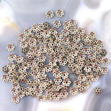6x2mm Silver Pewter Bead Cap 150pcs (JFD47)a for DIY Jewelry designer