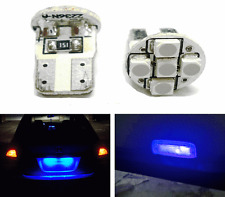 5 SMD 5050 LED T10 TOP WEDGE PARKING INDICATOR CAR BIKE LIGHT- BLUE- 2PC